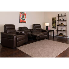 Theatre Seats | Leather Reclining Home Theatre Sectional Sofa