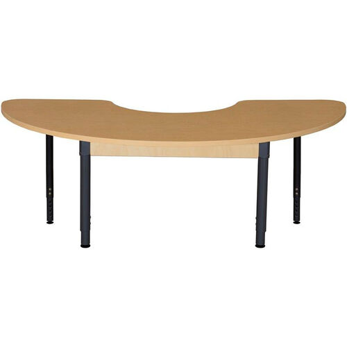 Our Half Circle High Pressure Laminate Table with Adjustable Steel Legs - 64