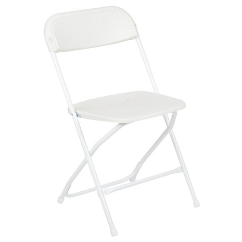 Our HERCULES Series 650 lb. Capacity Premium White Plastic Folding Chair is on sale now.