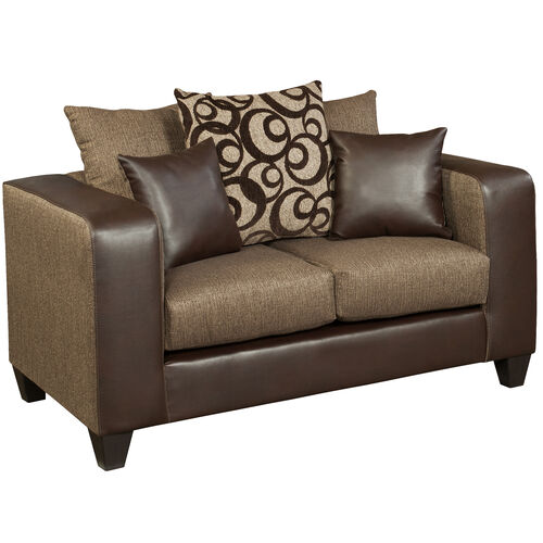Our Riverstone Object Espresso Chenille Loveseat is on sale now.