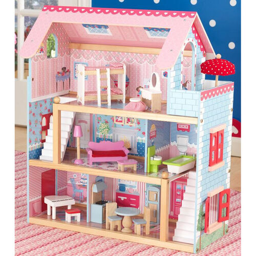 Our Chelsea Colorful Dollhouse for 4
