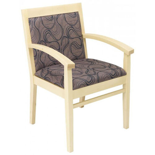 Our Tea Indoor Office Chair with Tobacco Pattern Fabric Seat and Back - Natural Wood Finish is on sale now.