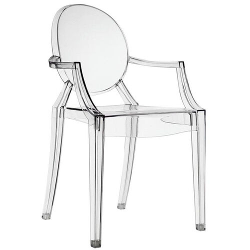 Our Casper Dining Armchair in Clear is on sale now.