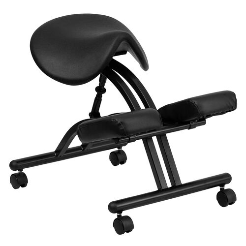 Our Ergonomic Kneeling Office Chair with Black Saddle Seat is on sale now.