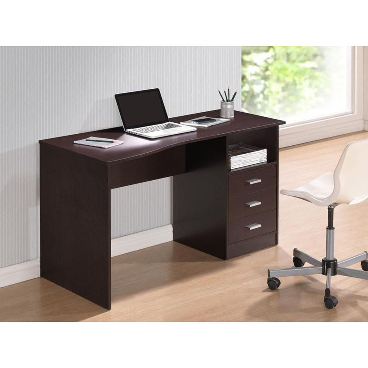 Our Techni Mobili Classic Computer Desk With Multiple Drawers Wenge Is On Now