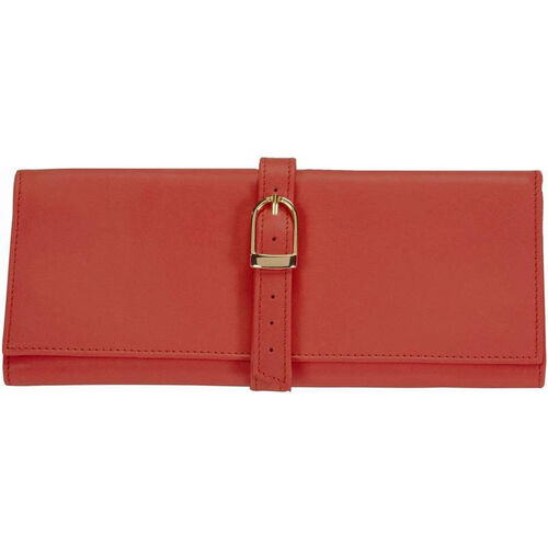 Our Jewelry Roll - Top Grain Nappa Leather - Red is on sale now.