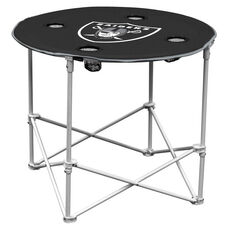 Oakland Raiders Team Logo Round Folding Table