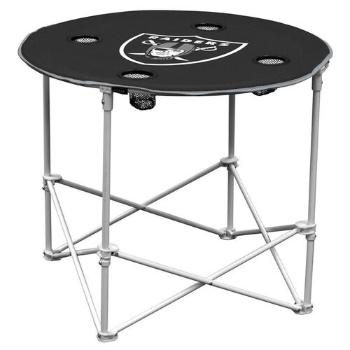 Our Oakland Raiders Team Logo Round Folding Table is on sale now.