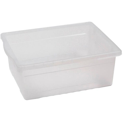 Our Royal Large Open Environmentally Friendly Tough Plastic Tub - Clear - 15.63
