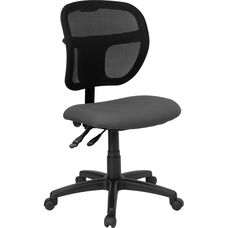 Mid-Back Gray Mesh Swivel Task Chair