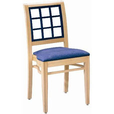 599 Stacking Chair w/ Upholstered Seat - Grade 1