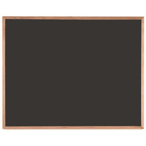 Our Black Composition Chalkboard with Red Oak Frame - 48