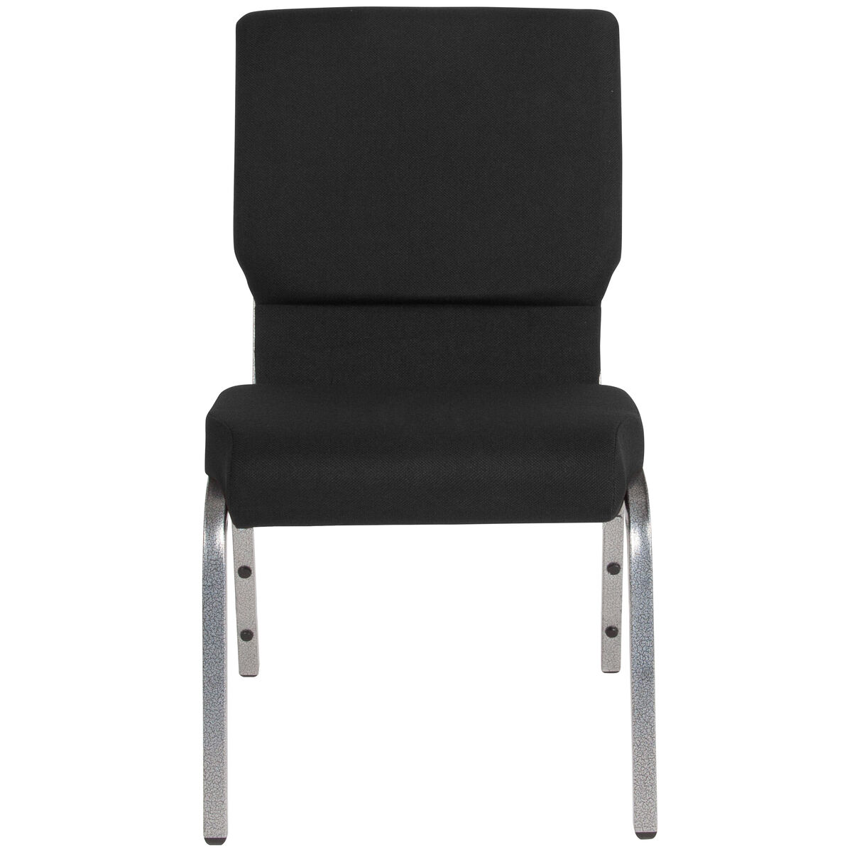 Black Fabric Church Chair Xu Ch 60096 Bk Sv Gg Bizchair Com