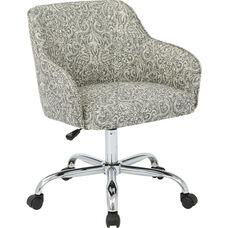 Ave Six Bristol Fabric Task Chair - Veranda Pewter