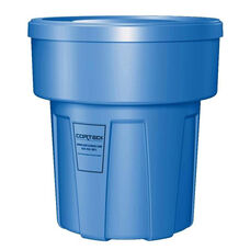 30 Gallon Cobra Food Grade/General Use Trash Can - Blue