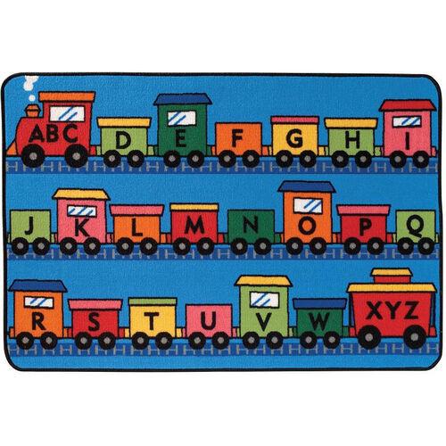 Our Kids Value Alphabet Train Rectangular Nylon Rug - 36