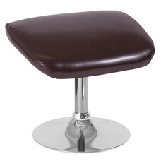 Egg Series Brown LeatherSoft Ottoman