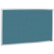 800 Series Type CO Aluminum Frame Tackboard - Designer Fabric - 48