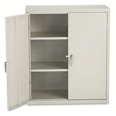 HON® Assembled Storage Cabinet - 36w x 18-1/4d x 41-3/4h - Light Gray
