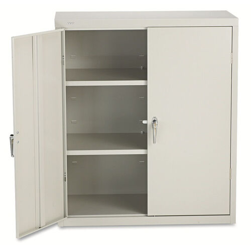 Our HON® Assembled Storage Cabinet - 36w x 18-1/4d x 41-3/4h - Light Gray is on sale now.