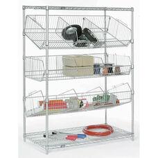 Chrome Wire Bin Pick Rack - 24