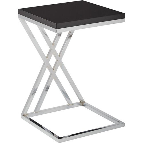 Our Ave Six Wall Street Multi-Purpose Side Table with Chrome Frame - Black is on sale now.