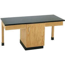 2 Station Wooden Science Table with 1