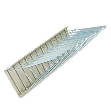 Safco® Sheet File Pivot Wall Rack - 12 Hanging Clamps - 24w x 14 3/4d x 9 3/4h - Sand