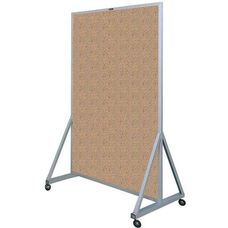 629 Series Multi-Use Double Sided Room Divider - Tan Nucork - 48