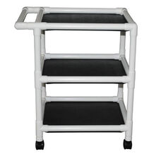 Non-Magnetic 3-Shelf Uncovered Utility Linen Cart with Casters