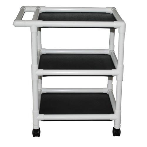 Our Non-Magnetic 3-Shelf Uncovered Utility Linen Cart with Casters is on sale now.
