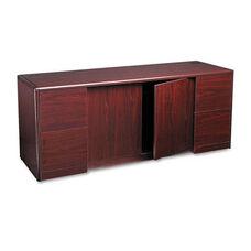 HON® 10700 Series Credenza w/Doors - 72w x 24d x 29 1/2h - Mahogany
