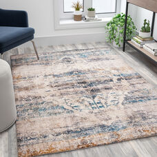Artisan Old English Style Traditional Rug - 5' x 7' - Blue
