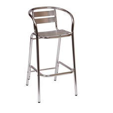 Parma Outdoor Aluminum Barstool - Arms