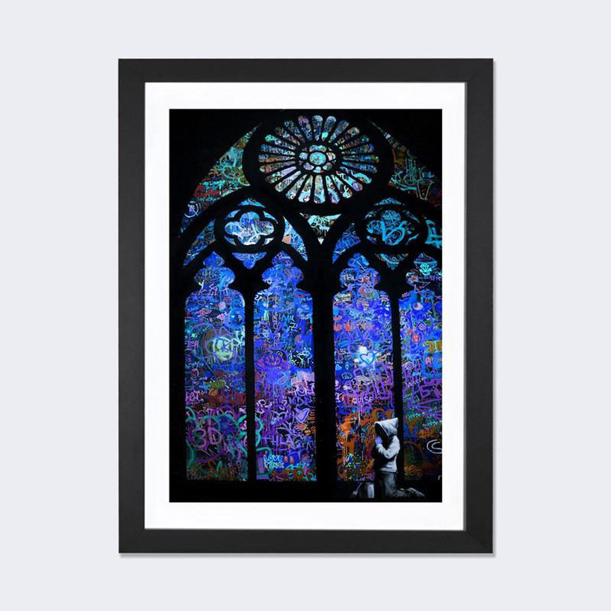 Icanvas stained glass window ii by banksy artwork on fine for 16 x 24 window