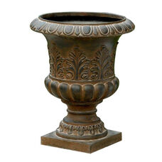 Classic Urn Planter with Rustic Weathered Finish 19.9