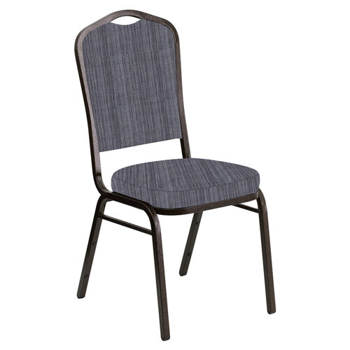 Our Crown Back Banquet Chair in Sammie Joe Pewter Fabric - Gold Vein Frame is on sale now.