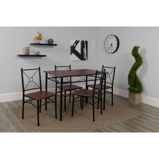 Sutton Place 5 Piece Mahogany Finish Dinette Set with Chairs