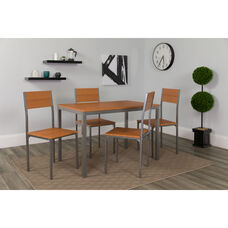 Castleton 5 Piece Cherry Finish Dinette Set with Chairs