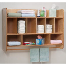 New Wave Hang On The Wall Diaper Unit with Towel Rod