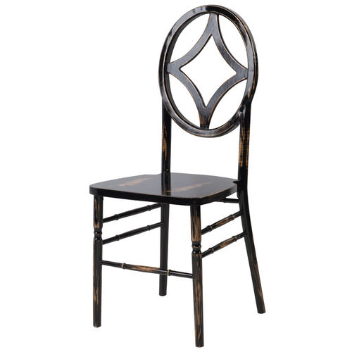 Our Veronique Series Stackable Diamond Wood Dining Chair - Lime Black Wash is on sale now.
