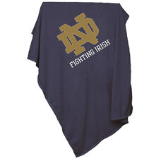 University of Notre Dame Team Logo Sweatshirt Blanket