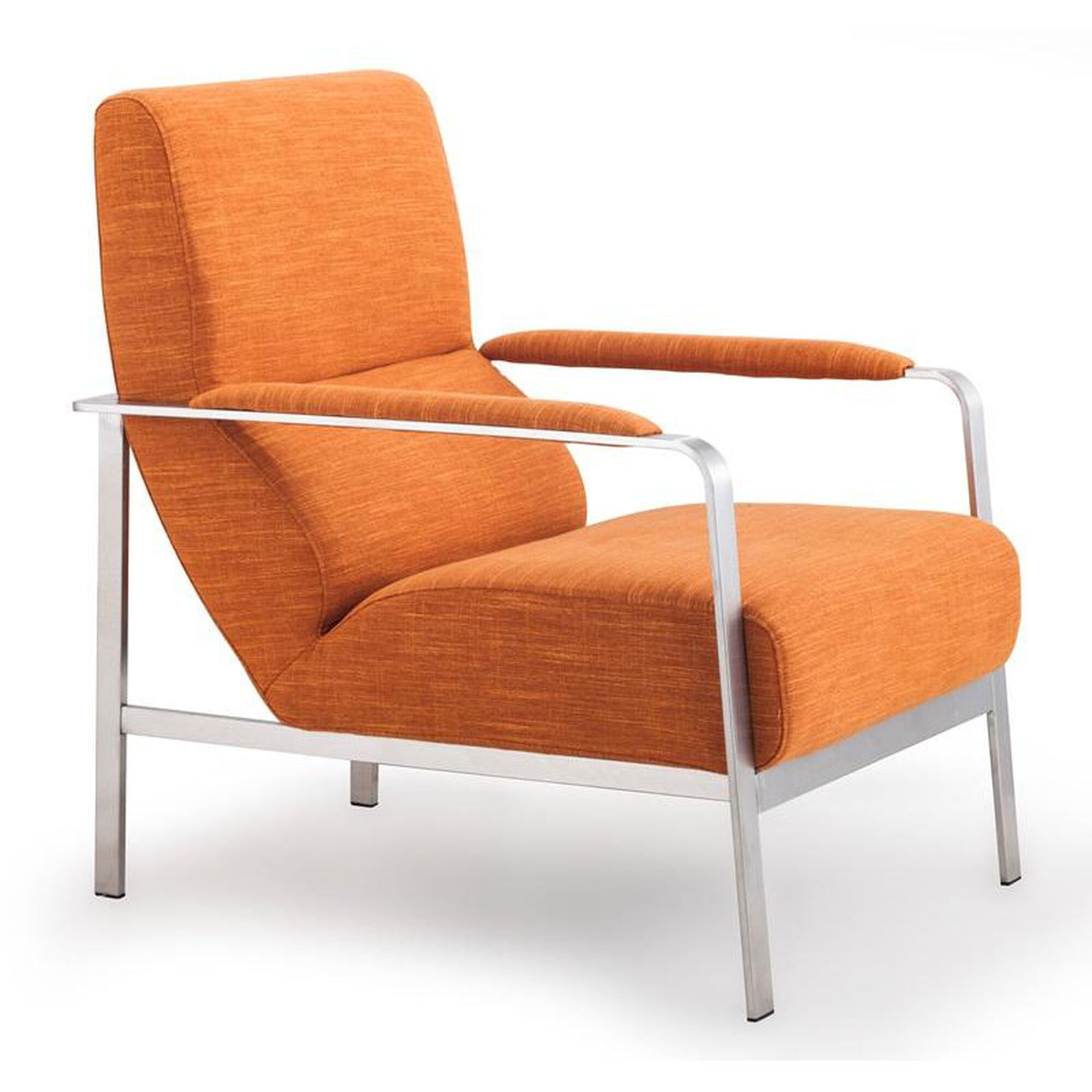 Zuo Modern Jonkoping Arm Chair In Sunkist Orange 500347