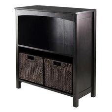 Terrace 3-Pc Storage 3-Tier Shelf with 2 Small Baskets