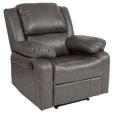 Harmony Series Gray Leather Recliner