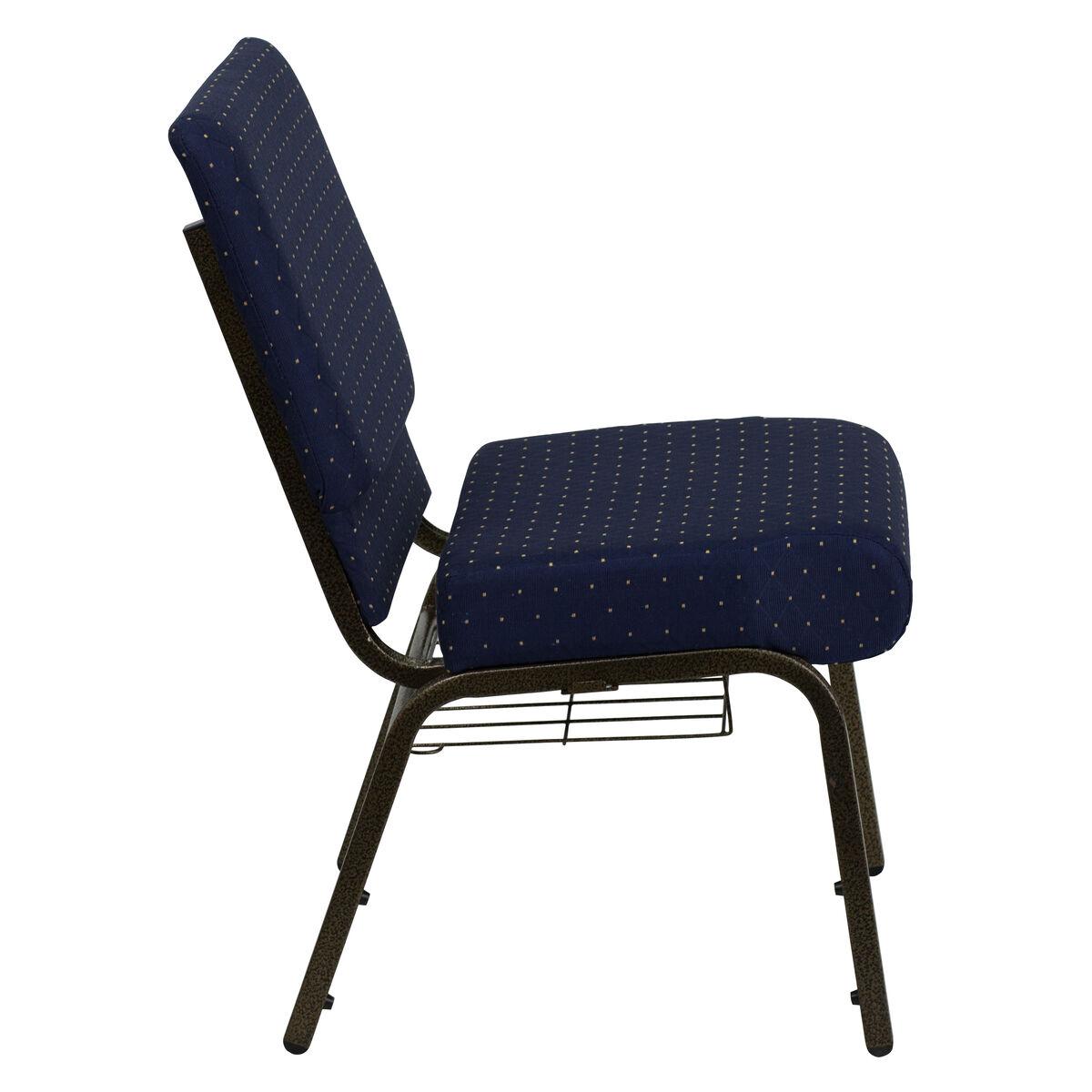 Blue Dot Fabric Church Chair Fd Ch0221 4 Gv S0810 Bas Gg