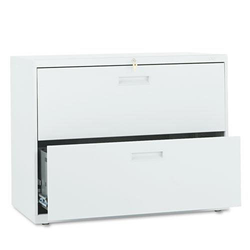 Our HON® 500 Series Two-Drawer Lateral File - 36w x 19-1/4d x 28-3/8h - Light Gray is on sale now.
