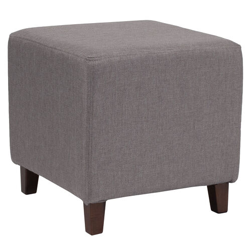Our Ascalon Upholstered Ottoman Pouf in Light Gray Fabric is on sale now.