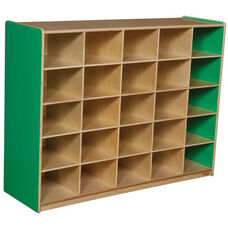 Wooden Storage Unit with 25 Storage Compartments - Green Apple - 48