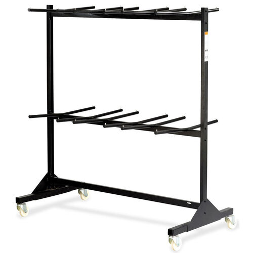 Safco Double Tier Folding Chair Cart - Black